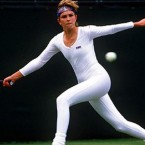 1985 may have been the year that Wimbledon fashion reached it's apex. American player Anne White took to the court wearing an all-in-one spandex catsuit that was quite distracting to her opponent, Pam Shriver. Shriver ended up losing that match, and afterwards she asked tournament officials that White never ever wear that outfit again.