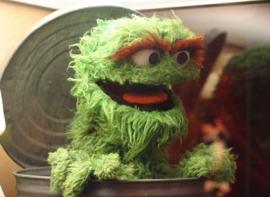 Oscar the Grouch: the original trash talker.