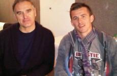 This charming man? Joey Barton really did meet Morrissey at Glasto last night