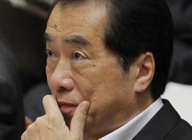 Japan's Prime Minister Naoto Kan