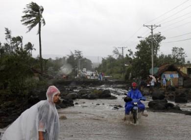 Legazpi, Albay province in northeastern Philippines.