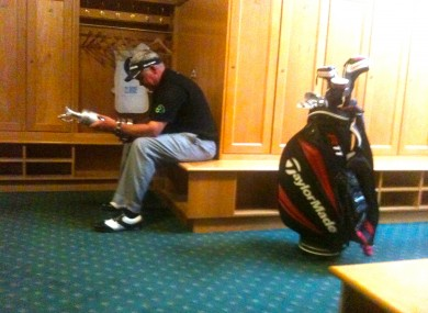 Darren Clarke has a moment to himself after his Open triumph