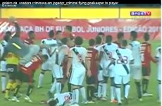 Brazilian keeper may be charged with attempted murder after brutal kung-fu kick