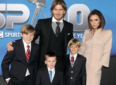 Meet the Beckhams minus the new-born