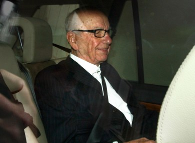 Rupert Murdoch in London last night.