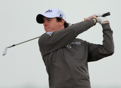 McIlroy is in action at the Open Championship.