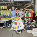 Family and frends at Dublin Airport as the Irish Special Olympic Team arrive home from Athens (Sasko Lazarov/Photocall)