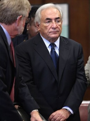 File photo of former IMF leader Dominique Strauss-Kahn, at his arraignment on charges of sexually assaulting a Manhattan hotel maid, at State Supreme Court in New York.