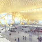 An artist's impression of the new airport's check-in area.
