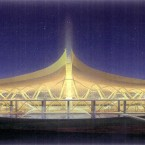 An artist's impression of the finished Kunming Airport Terminal.