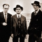 John Ryan, Anthony Cronin, Flann O Brien, Patrick Kavanagh and Tom Joyce on the 50th anniversary of Bloomsday.