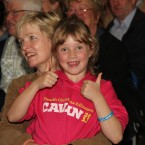 This young girl is happy with Sharon Shannon's performance last night, giving her two big thumbs-up.