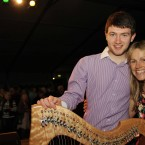 Kavan Donohoe and Sharon Shannon after last night's gig.