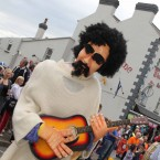 A musical character during the parade.