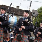 Bagpipers during the parade.