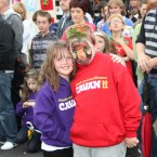Naoise amd Galvin Corby Smith enjoy the atmosphere during the official Fleadh parade.