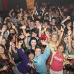 Hundreds of teenagers turned up for the 'Trad Disco' last night.