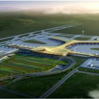 An artist's impression of Kunming Airport.