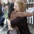Deirdre Ryan is congratulated by Maria Banat (Mark Stedman/Photocall Ireland)