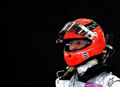 A very sober Michael Schumacher.