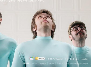 Ok Go donned lycra catsuits to shoot the new video