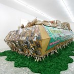 Thomas Hirschhorn, The Green Coffin, 2006. Courtesy of Galleria Alfonso Artiaco.