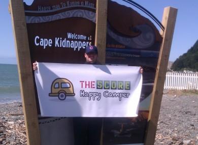 Sean at Cape Kidnapper.