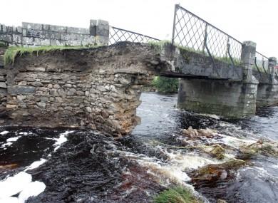 File photo of the Ballysmuttan Bridge in Co Wicklow, where Garda Jones entered the river yesterday.