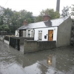 Lady's Lane in Kilmainham, Dublin after the Camac River burst its banks. Image: Eamonn Farrell/Photocall Ireland