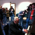 Entertaining the students at DCU. Image: @SenDavidNorris