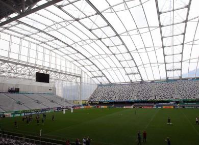 Ireland train at the Otagom Stadium in Dunedin