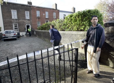 The house where the body was found. Ishtar Ahmed, right, tried to rescue the