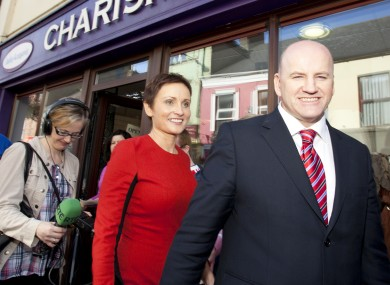 Seán Gallagher campaigning in Cork today