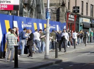 File photo of a dole queue.