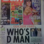 Sharing the front page with ex X-Factor judge Kelly Rowland, The Sun celebrates 'our new prez'.