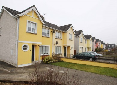 A housing estate in Portarlington, Co Laois