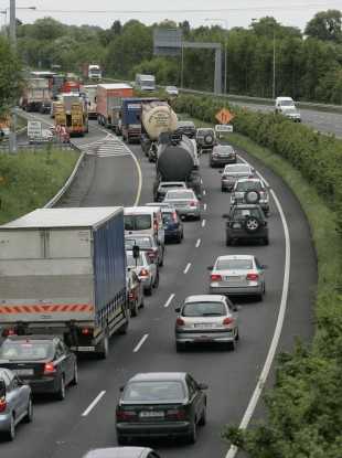 Traffic on the M7, Dublin