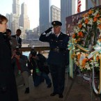 McAleese lays a wreath at the site of the attacks in New York in 2002.