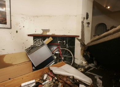 A flooded home in Ladys Lane in Kilmainham in Dublin after the Camac River burst its banks.