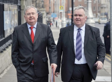 Pat Rabbitte with Willie Penrose earlier this year