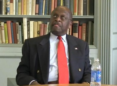 Herman Cain appeared to struggle with a question during the interview