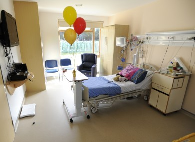 File photo of a room in the cystic fibrosis unit in Crumlin Hospital Dublin
