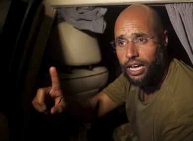 Saif al-Islam Gaddafi in Tripoli in August 2011.