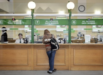 File photo of an An Post counter