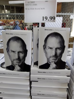 The Steve Jobs biography in a shop earlier this year