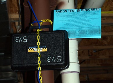 A device for testing radon levels