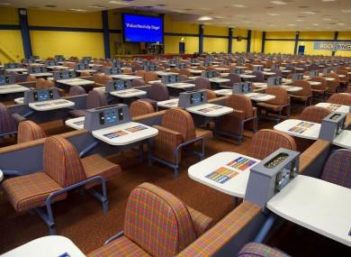 The empty interior of the Rock Bingo Centre last night