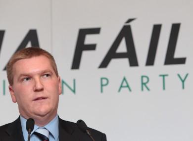 Fianna Fail Spokesperson on Finance Michael McGrath