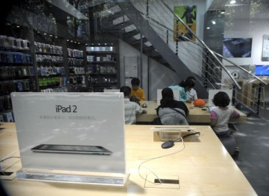 A general view of an 'Apple Store' in Kunming, which was found not to be an Apple Store at all. Apple itself now faces a hefty bill for unauthorised use of the 'iPad' name in China.