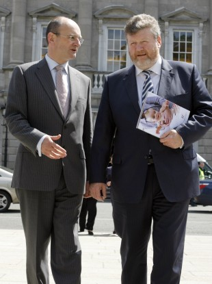 File photo of Dr Frank Dolphin with Dr James Reilly